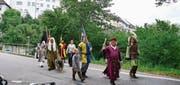 Die Wiler Altstadtkulisse bot einen prächtigen Hintergrund für das Mittelalterliche Hofspektakel. (Bilder: Carola Nadler)