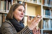 """Eva Schäfer arbeitet beim Amt für Denkmalpflege Thurgau. """"Es ist sinnvoll, wen die Kirche die Besitzerin bleibt"""", sagt sie. (Bild: Reto Martin)"""