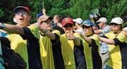 Gemeinsam: Die Mitglieder des VGB-insieme-Rorschach am Plusport-Tag 2016 des Behindertensports Schweiz. Der nächste Sporttag findet am 9. Juli in Magglingen statt. (Bild: ZVG/ PluSport Behindertensport Schweiz)