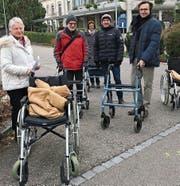 Gemeinsam unterwegs: Hedy Joos, Helmut Schöll, Hedy Röllin, Stadtrat Christoph Suter und Stadtpräsident David H. Bon. (Bild: PD)