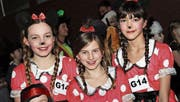Die drei Minni-Mäuse Jolina, Maja und Saira. (Bilder: Andrea Müntener)