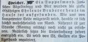 In der Abendausgabe der Appenzeller Zeitung vom 6. März 1916 gab es den ersten Hinweis auf die Bluttat. (Bild: pd)