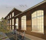 Das Kulturzentrum Presswerk in einer Visionalisierung. (Bild: pd)