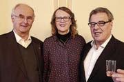Leben gerne in Frauenfeld: Domenico Ravizza mit seiner Schwester Rosanna Blasi-Ravizza sowie deren Ehemann Lino Blasi. (Bild: Hugo Berger)