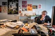 Redaktorenbueros vor dem Umzug: Marcel Elsener (Bild: Michel Canonica (Michel Canonica))