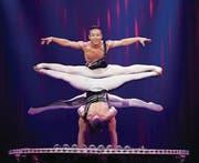 «Black & White Fantasy» mit den Ausnahme-Artisten der China National Acrobatic Troupe. (Bild: Thierry Bissat)