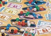 «Las Vegas» ist ein Spiel mit sechs Casinos, eines für jede würfelbare Augenzahl. Um zu gewinnen, darf man nie gleich viele Würfel auf ein Casino setzen wie die Gegner.