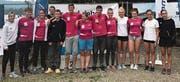 Die erfolgreiche Delegation der SCR Sharks an der Schweizer Meisterschaft. (Bild: PD)