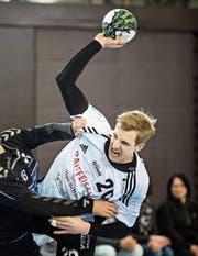 Lucius Graf erzielte für Gossau in der vergangenen Partie gegen Basel zehn Treffer. (Bilder: Michel Canonica)