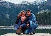Stephanie Rickenbacher und Lui Eigenmann am Crno jezero (Schwarzer See) in Montenegro. (Bild: PD)