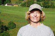 Patrizia Gabathuler aus Oberschan besitzt mit ihrem Mann Hans die schönste Talwiese. (Bild: Martin Arnold)