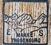 Skimarke von Eduard Sutter.