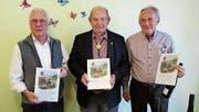 Drei der vier neuen Ehrenveteranen: Waldemar Hediger, Hansruedi Dummermuth und Leon Schmid (von links). (Bild: PD)