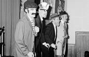 Die Rorschacher Cliquen «Ständerlämps» und «Hagediese» sowie die Goldacher «d'Lehrer» (von oben). (Bilder: D-J Stieger (1988/1987))
