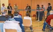 Die Podiumsdiskussion der Gemeinde Mammern füllte die Mehrzweckhalle fast bis auf den letzten Platz. (Bild: Margrith Pfister-Kübler)