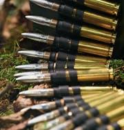 Munition des Schweizer Rüstungsunternehmens Ruag. (Bild: EPA)