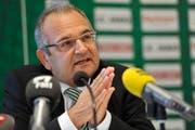 Mit Bill B. Mistura verlässt eine umstrittene Figur den FC St.Gallen. (Bild: Ralph Ribi/Archiv)