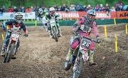 Am letztjährigen Ostermontags-Motocross: Fahrer der Lites-250-Kategorie in Aktion. (Bild: Andrea Stalder)