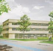 Visualisierung der geplanten Erweiterung beim «Gartenhof» in Steinach. (Bild: pd)