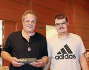 Peter Fischer mit seinem Sohn Michael.