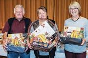 Das Siegertrio: Max Koller, Rosmarie Hug und Frieda Meier. (Bild: PD)