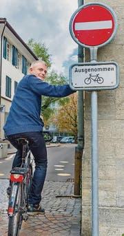 Eddie Kessler engagiert sich für die Velo fahrenden Thurgauer. (Bild: Andrea Stalder)