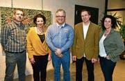 Die VSBB-Schulbehörde: Benno Rast, Tanja Schild, Thomas Bitschnau, Beat Schenk und Liselore Papadopoulos. (Bild: Mario Testa (Februar 2017))