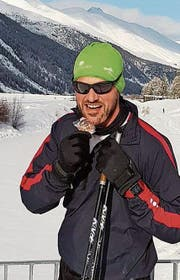 Nico Stahlberg geniesst das Wintertraining im Schnee. (Bild: PD)