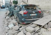 epa05609913 A view of Norcia village destroyed after the strong earthquake in central Italy, Umbria Region, 30 October 2016. A 6.6 magnitude earthquake struck 6km north of Norcia, Italy, on 30 October 2016. EPA/MATTEO GUIDELLI (Bild: MATTEO GUIDELLI (EPA))