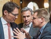 Taktisches Manöver: Die SVP um Nationalrat Toni Brunner (rechts) will die Reform der Altersvorsorge aufteilen. (Bild: Alessandro della Valle/KEY)
