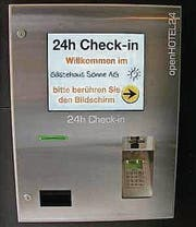 Der 24-h-Check-in-Automat. (Bild: pd)