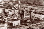 Ein Foto des zerstörten Reaktors von Tschernobyl vom 9. Mai 1986. (Bild: HO (EPA))