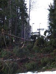 Rollen und Zugseil des Skilifts Trogen wurden arg in Mitleidenschaft gezogen. (Bild: pd)