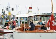 Die Präsentation historischer Dampfboote gehörte zum Rahmenprogramm. (Bild: Donato Caspari)
