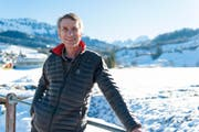 Thema einer Ausstellung: Ex-Skispringer Walter Steiner aus Wildhaus. Bild: Archiv (Bild: Olivia Hug)