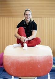 Giulia Steingruber: «Für mich war immer klar, dass ich nach der Pause wieder einsteigen will.» Mit dem rechten Fuss muss die Gossauerin weiterhin behutsam umgehen. (Bild: Urs Lindt/Freshfocus)