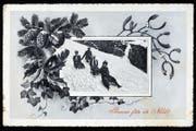 Diese am 24. Dezember 1917 in Genf abgestempelte Weihnachtsgrusskarte erreichte Christian Rhyner jun. in Räfis.