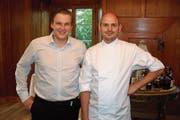 Thomas Dolp (links) und Jim Billet freuen sich auf die neue Herausforderung im «Schlössli Sax». (Bild: PD)