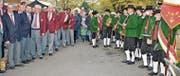 Es war ein länderübergreifendes Brückenfest, begleitet von Musikkorps und Chören aus Rheineck und Gaissau. (Bild: Kurt Latzer)
