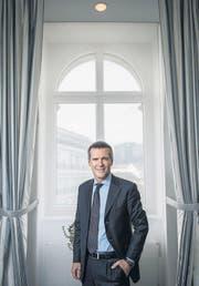 «Der Finanzplatz muss attraktiv bleiben für ausländische Investoren»: Lukas Gähwiler, Chef der UBS Schweiz. (Bild: Urs Bucher)