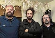 Für sie hat Musik keine Wurzeln: Christoph Craviolini, Baptiste Beleffi und Matthias Honegger. (Bilder: Chris Marty/frauenfeld-events.ch)