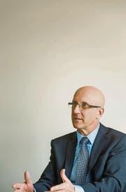 Urs Manser, Verwaltungsratspräsident der Wärme Frauenfeld AG, im Gespräch. (Bild: Reto Martin)