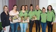 Erfolgreiche Turnerinnen des Teams Aerobic. (Bild: PD)