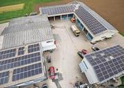Die Solarstromanlage auf dem Werkhof in Sulgen. (Bild: Reto Martin)