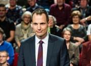 "In der Kritik: ""Arena""-Moderator Jonas Projer. (Bild: SRF/Oscar Alessio)"