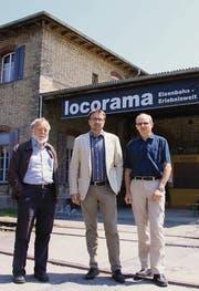 Uwe Moor, David H. Bon und Jürg Fetzel wollen das Locorama in eine neue Zukunft führen. (Bild: Michèle Vaterlaus)