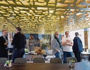 Der Salon der «Arenenberg» erhielt im Mittelteil eine strukturierte Leuchtdecke. (Bilder: Nana do Carmo)