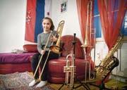 Zu Hause ist sie in Romanshorn, mit den Swing Kids hat sie die Welt bereist: Sophie Bright, Jahrgang 2004. (Bild: Andrea Stalder)