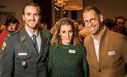 Gehören zu den 100 gekürten Thurgauerinnen und Thurgauern: Julian Thorner, Lina Button und Jeroen van Rooijen. (Bild: Reto Martin)