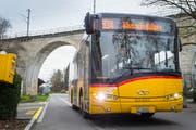 Ein Postauto auf dem Weg nach Weinfelden. (Bild: Andrea Stalder)